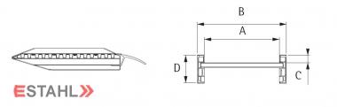 Paire de rampes charges lourdes avec rebords