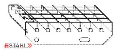 Marche en caillebotis 800 x 270 mm 30/30