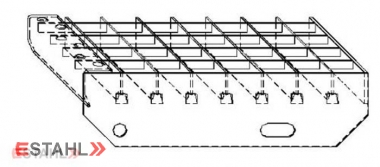 Marche en caillebotis 1200 x 270 mm 30/30