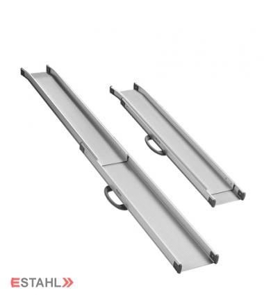 Paire de rampes télescopiques en aluminium