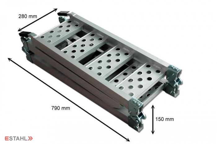 rampes pliables en aluminium de e stahl. Black Bedroom Furniture Sets. Home Design Ideas