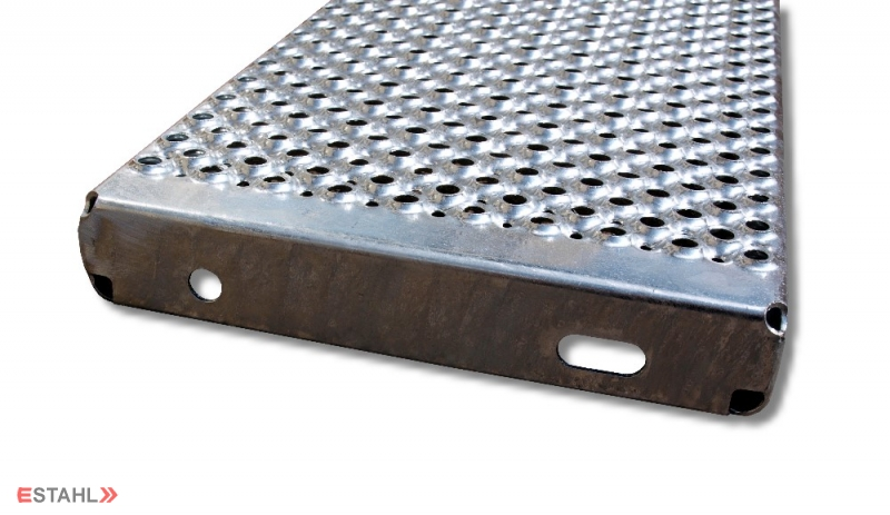 Marche de s curit antid rapante en acier galvanis chaud for Escalier galvanise prix