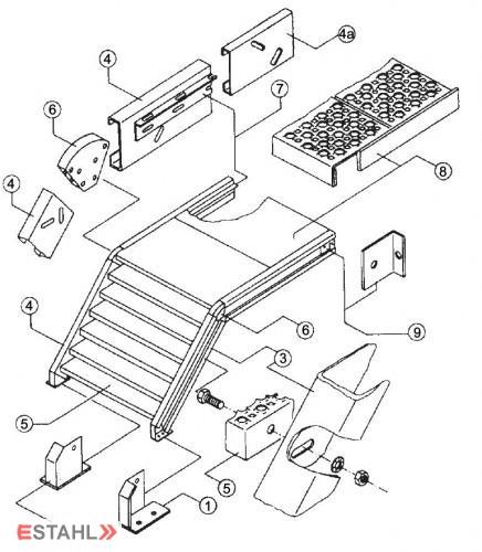 escaliers en kit pour ext rieur. Black Bedroom Furniture Sets. Home Design Ideas