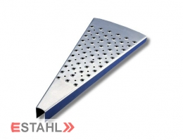 Marches pour escalier hélicoïdal, Rayon 1000 mm