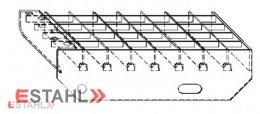 Marche en caillebotis 1000 x 240 mm 30/30